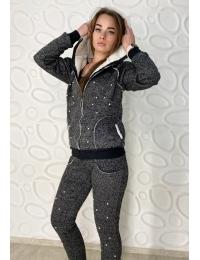 Женский теплый костюм  на меху MELODY серый