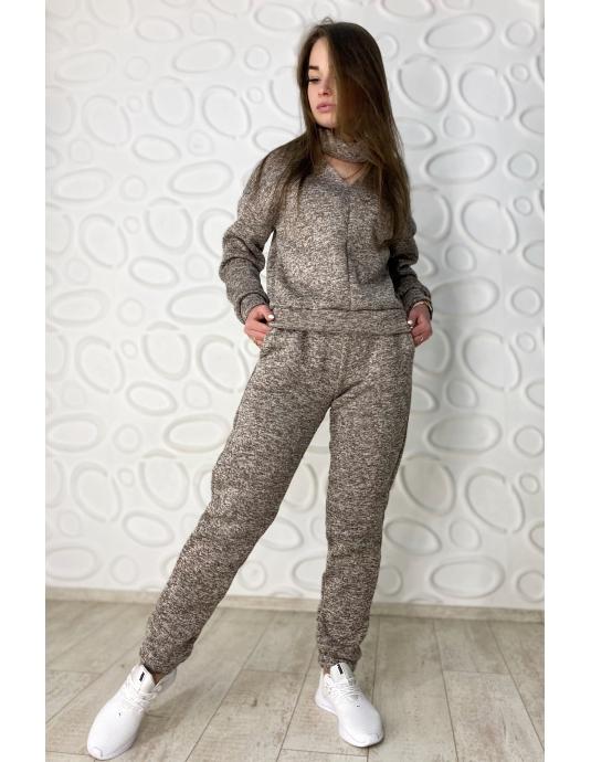 Теплый комплект из ангоры брюки и свитшот PASSION